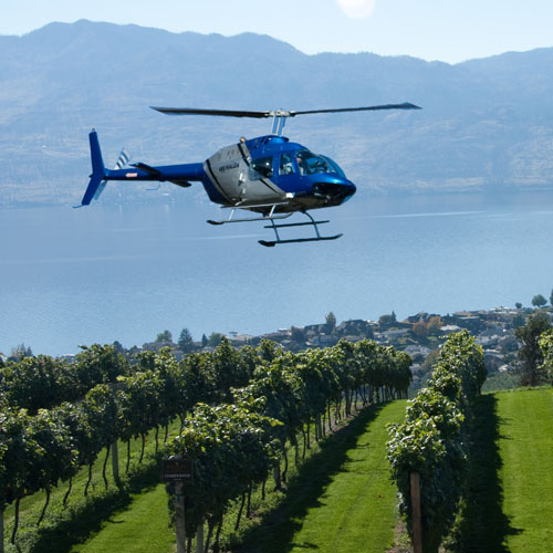 distinctly kelowna wine tours helicopter tours