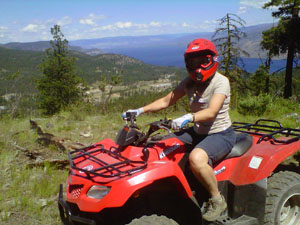 ATV Rider with a view